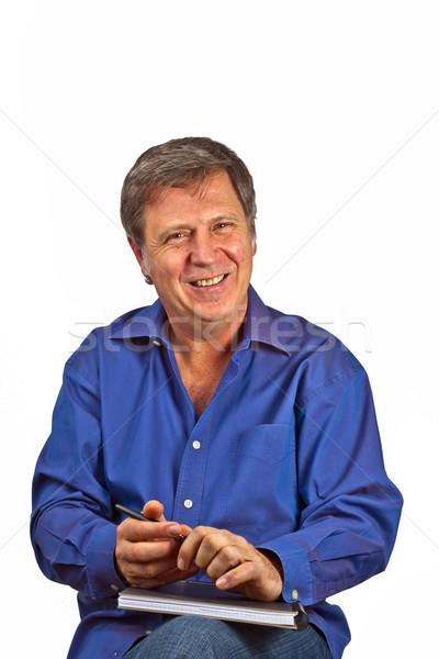 Portrait heureux homme sérieux regarder visage Photo stock © meinzahn