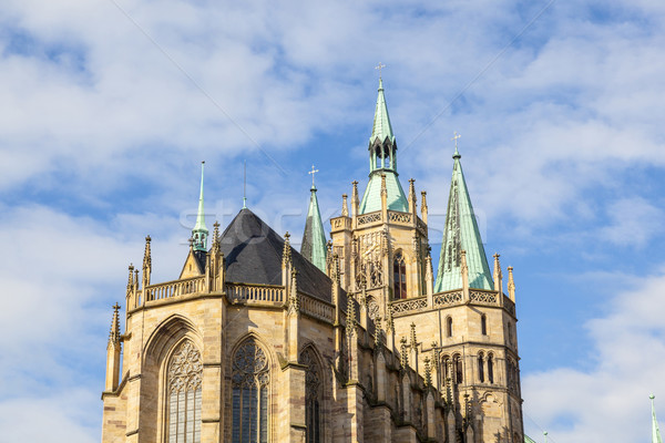 Dom hill of Erfurt Germany  Stock photo © meinzahn