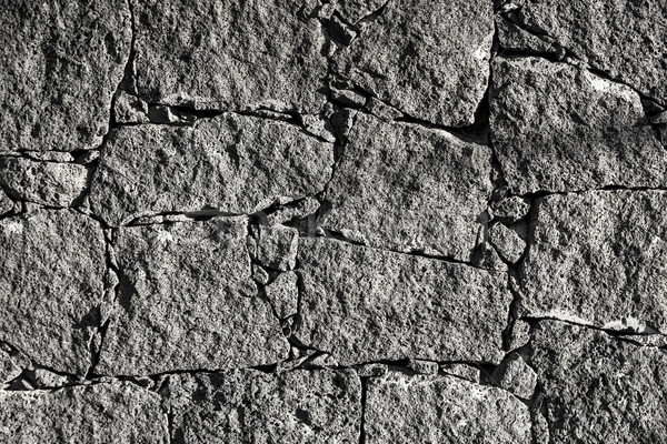 Texture of the black volcanic rock wall from Lanzarote, Canary I Stock photo © meinzahn