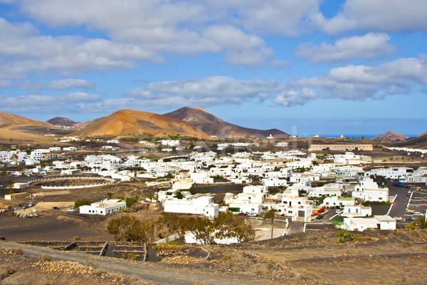 beautiful town of Uga in volcanic area of Lanzarote Stock photo © meinzahn