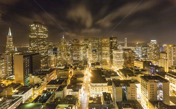 Stock photo: aerial of San Francisco by night