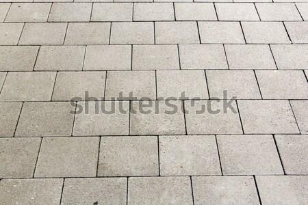Detail tegels straat harmonisch patroon rock Stockfoto © meinzahn