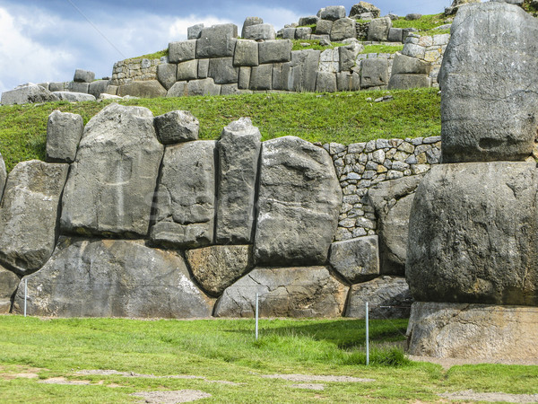 Sacsayhuaman, Incas ruins in the peruvian Andes at Cuzco Peru Stock photo © meinzahn
