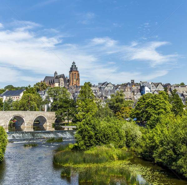 old Lahn bridge and view to  Wetzlar dom Stock photo © meinzahn