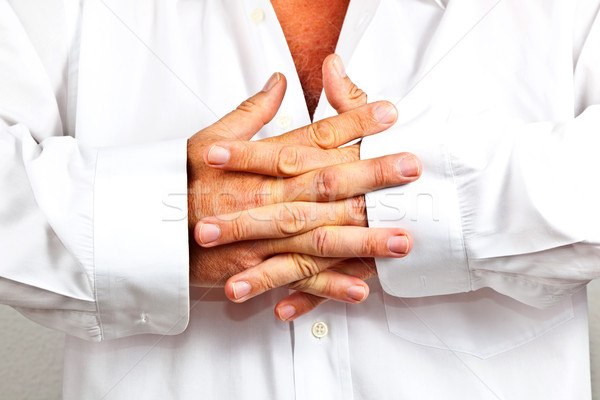 Nino dedos blanco camisa detalle mano Foto stock © meinzahn