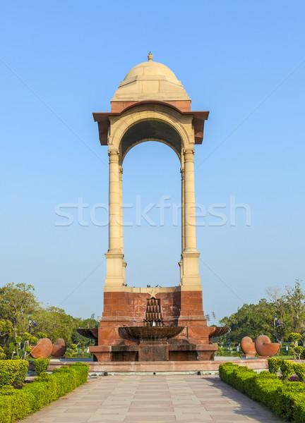 Lege Indië poort new delhi straat zomer Stockfoto © meinzahn