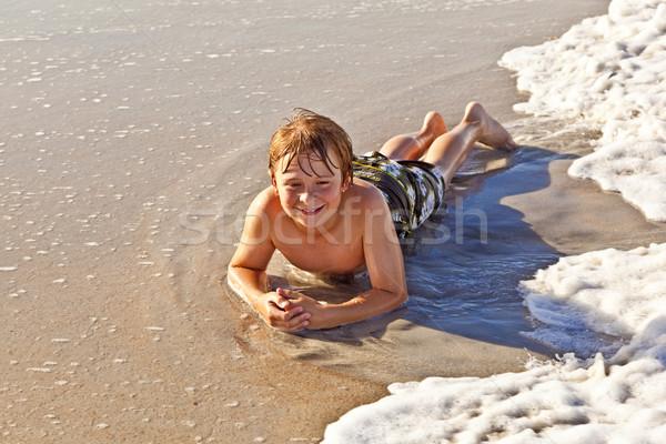 Erkek plaj güneş yüz Stok fotoğraf © meinzahn