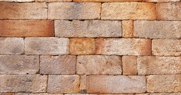 seamless bricks of an historic building QTAB Minar in Delhi Stock photo © meinzahn