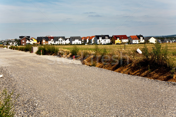 new housing area in beautiful landscape near Frankfurt in Riedbe Stock photo © meinzahn