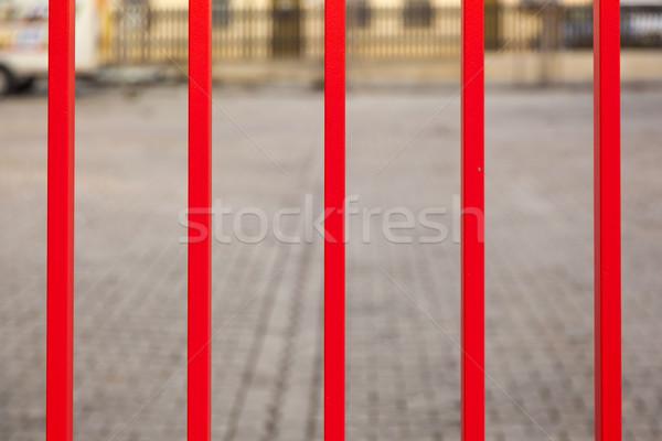 Demir kapı harmonik pozitif renkler boya Stok fotoğraf © meinzahn