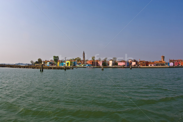 borano from seaside, beautiful colored houses of the old fisherm Stock photo © meinzahn