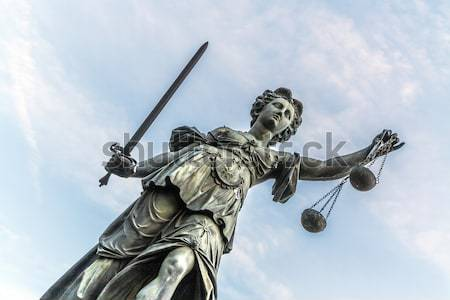 Justitia, a monument in Frankfurt, Germany Stock photo © meinzahn