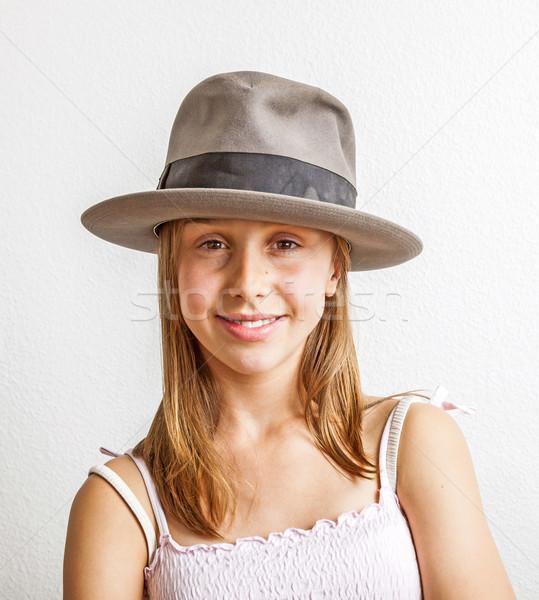 cute young teenage girl   Stock photo © meinzahn
