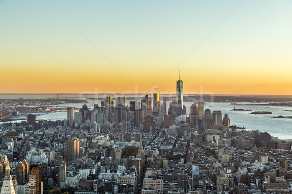 Stock photo: specular skyline view of New York