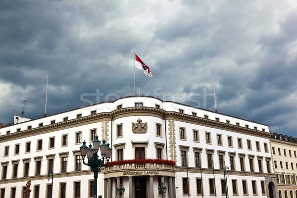 Parliament (Landtag) of Hesse in Wiesbaden, Germany in dark clou Stock photo © meinzahn