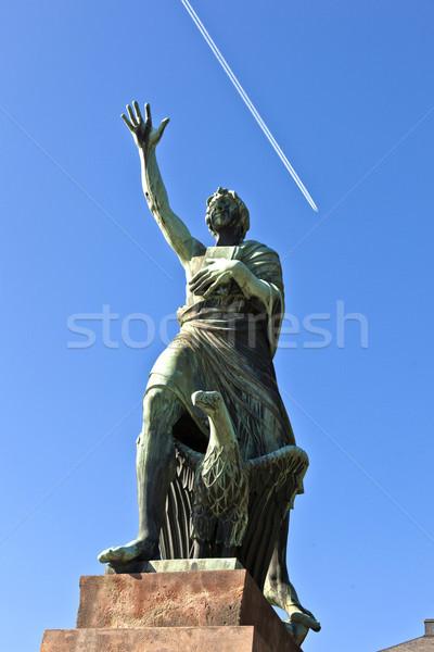 famous sculpture of mayor Joseph Goerres in Koblenz at the river Stock photo © meinzahn