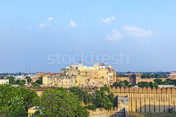 palace of the Maharajah of Bikaner inside Junagarh Fort, Bikane Stock photo © meinzahn