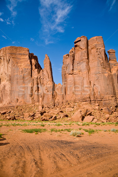 The Bird and the Hand Buttes are giant sandstone formations in t Stock photo © meinzahn