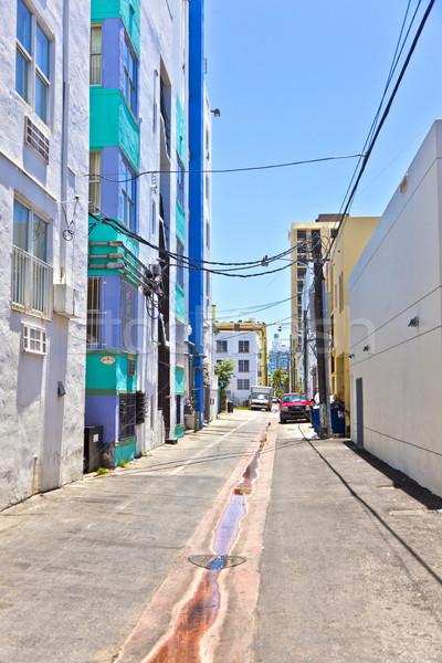 Eski boyalı tuğla evler güney Miami Stok fotoğraf © meinzahn