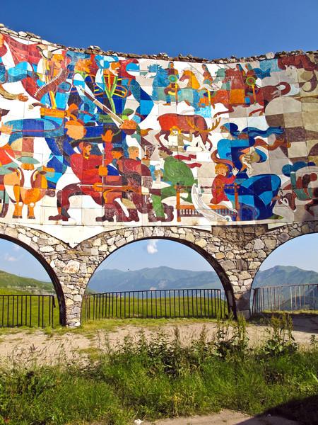 Szovjet barátság kék kő építészet beton Stock fotó © meinzahn