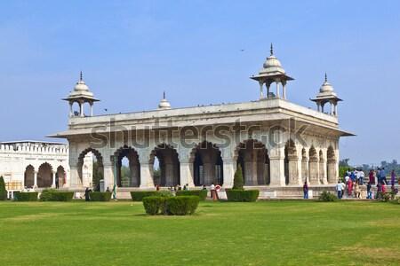 Rouge fort Delhi Inde porte château Photo stock © meinzahn