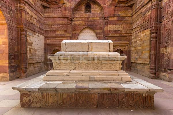 Grave Delhi Inde architecture mosquée Photo stock © meinzahn