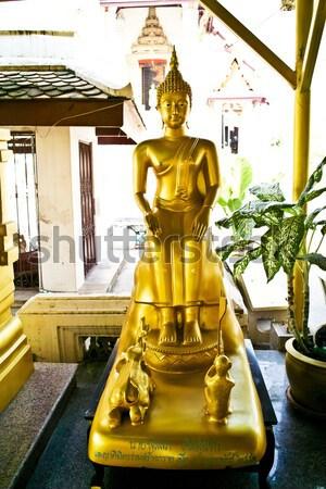 Manastır ünlü Buda heykel mavi mimari Stok fotoğraf © meinzahn