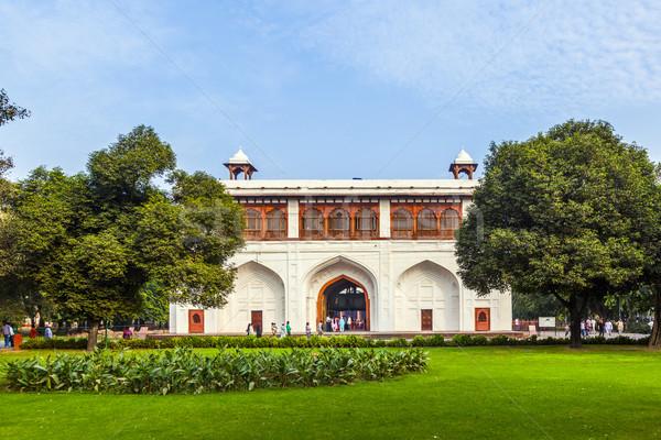 Rouge fort new delhi Delhi Inde ciel Photo stock © meinzahn