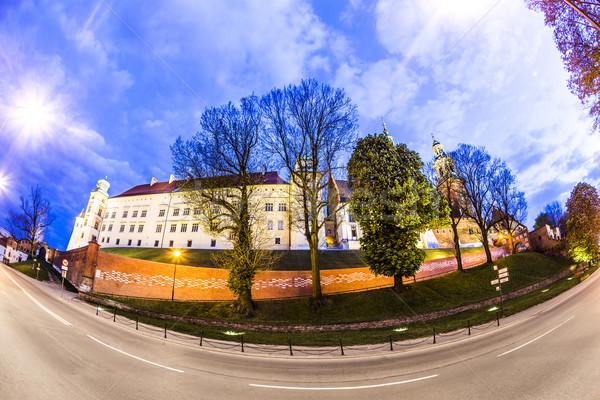 Wawel Hill by night - Krakow  Stock photo © meinzahn