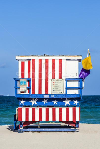 Híres úszómester tornyok dél tengerpart Miami Stock fotó © meinzahn