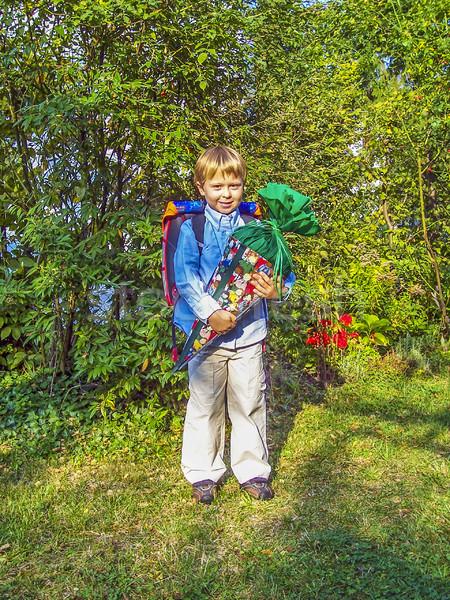 Dumny dziecko tektury słodycze mały Zdjęcia stock © meinzahn
