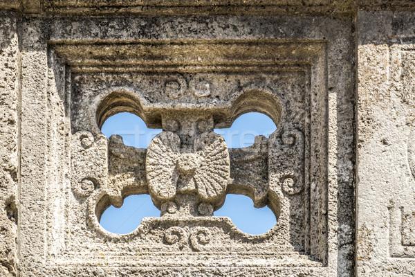 Mythological relief in the Sprudelhof of Bad Nauheim Stock photo © meinzahn