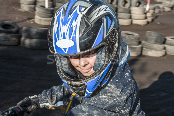 child loves to race with a quad  Stock photo © meinzahn