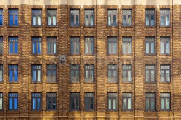 фасад старом доме центра Сан-Диего фон окна Сток-фото © meinzahn