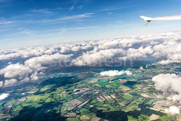 風光明媚な 表示 フィールド 農村 ハンブルク 自然 ストックフォト © meinzahn