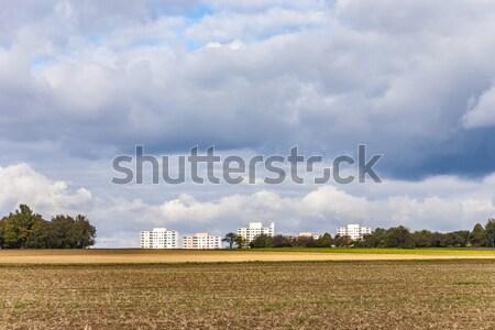 housing blocks in beautiful landscape Stock photo © meinzahn