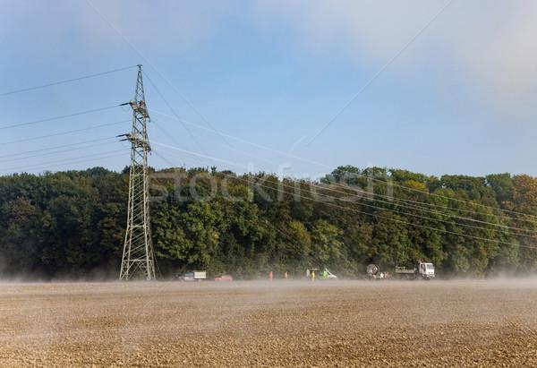 Elettrica costruire up campo nebbia auto Foto d'archivio © meinzahn