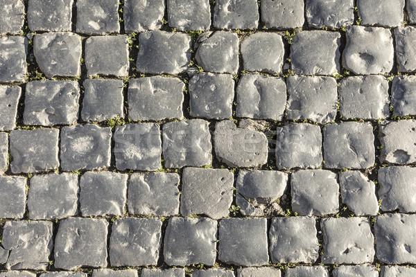 Harmônico pedras cinza rocha preto piso Foto stock © meinzahn