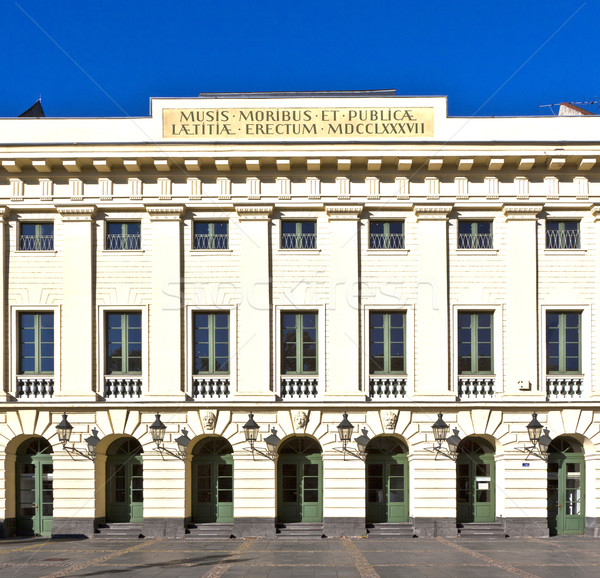facade of old historic urban theater in Koblenz, Germany. Stock photo © meinzahn