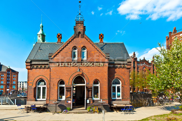 ハンブルク 有名な 古い ビルド 赤 レンガ ストックフォト © meinzahn