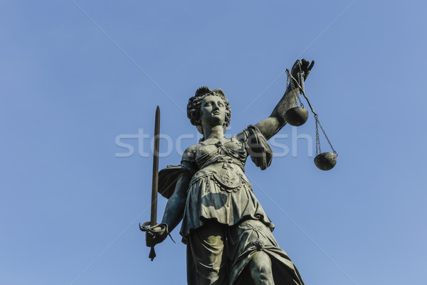 tatue of Lady Justice in Frankfurt, Germany Stock photo © meinzahn
