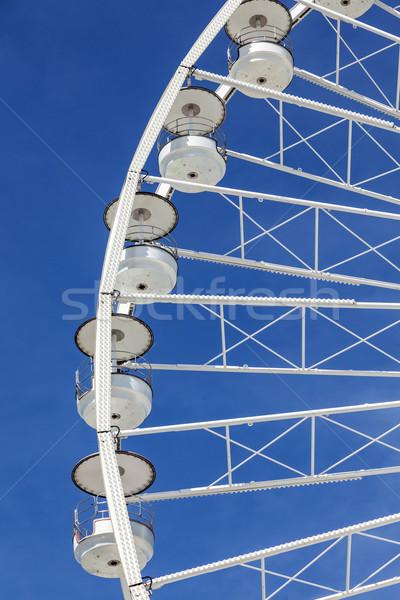big ferris wheel against a blue sky in Marseilles Stock photo © meinzahn