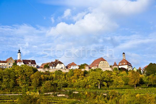 öreg híres város középkori romantikus völgy Stock fotó © meinzahn