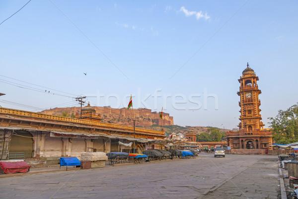 Noto clock torre view fort India Foto d'archivio © meinzahn