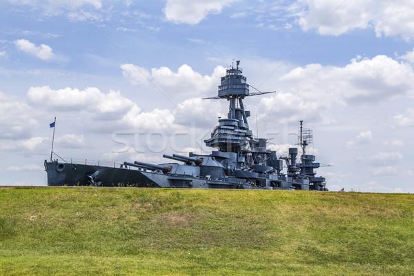ünlü savaş gemisi Teksas Metal tekne gemi Stok fotoğraf © meinzahn