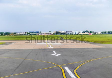 no entry sign at the runway in Marseilles Stock photo © meinzahn