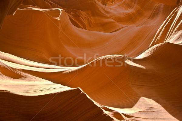 Antelopes Canyon near page, the world famoust slot canyon Stock photo © meinzahn