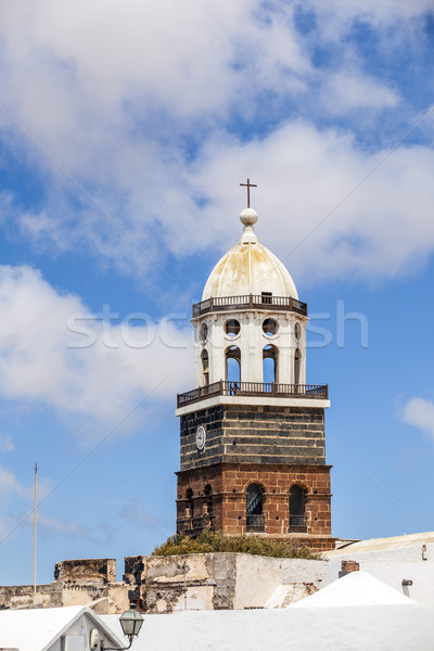 Canario isla iglesia cielo nubes cruz Foto stock © meinzahn