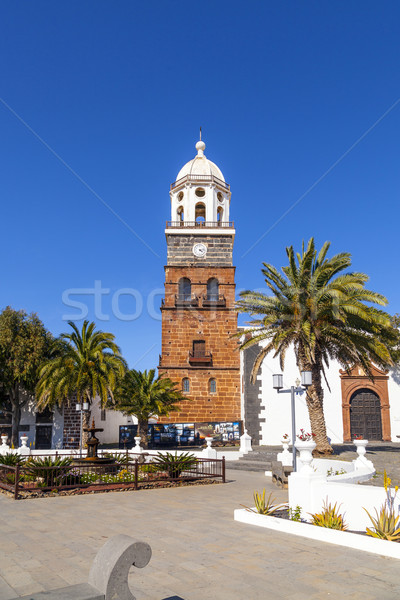 famous clock tower and church of Nuestra Senora de Guadalupe in  Stock photo © meinzahn