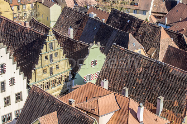 red shingle roofs in Rothenburg ob der Tauber  Stock photo © meinzahn